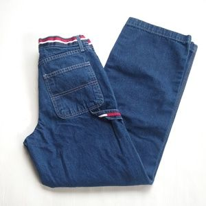 Tommy Hilfiger • striped waist carpenter jeans